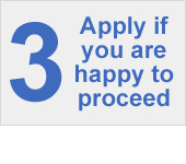 Apply if you are happy to proceed